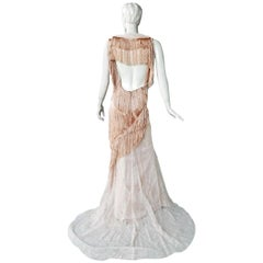 Nina Ricci Romantic Runway Delight Lace Confection Dress Gown