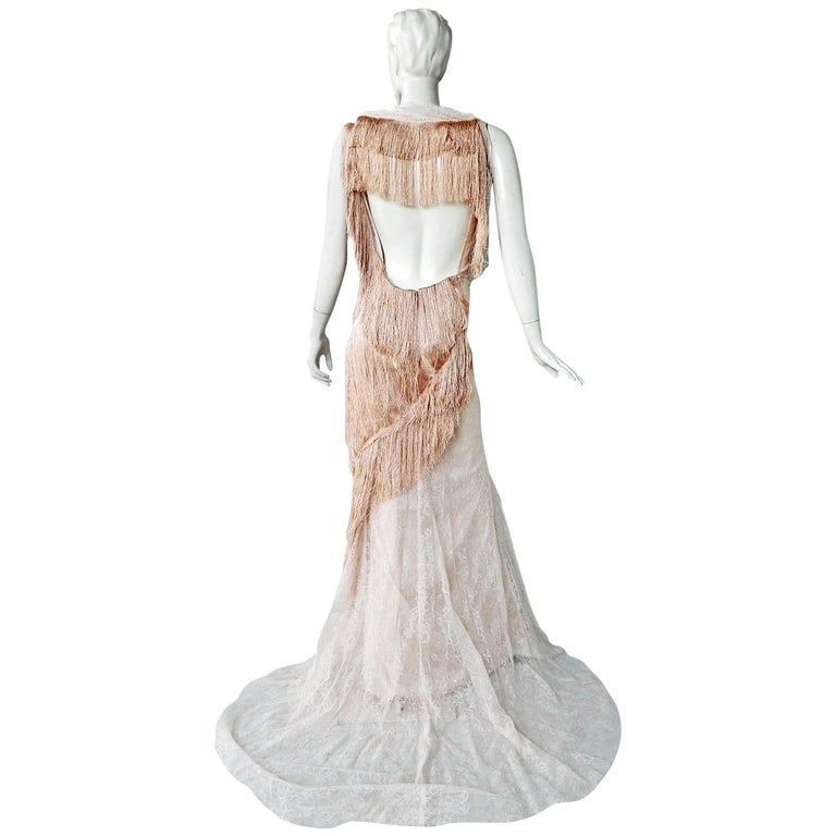 Nina Ricci Romantic Runway Delight Lace Confection Dress Gown For Sale