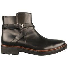 Men's COACH Size 11 Black Leather Wrap Strap Ankle Boots