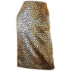 Dolce & Gabbana Silk Leopard Print Skirt