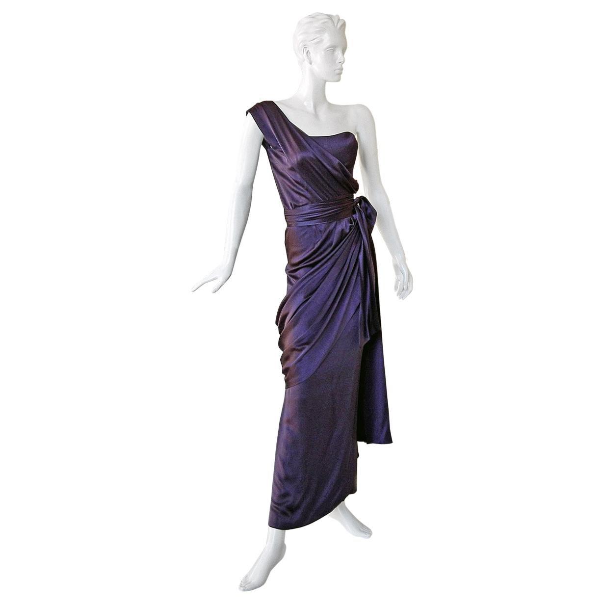 Yves Saint Laurent Haute Couture Grecian Drape Runway Gown