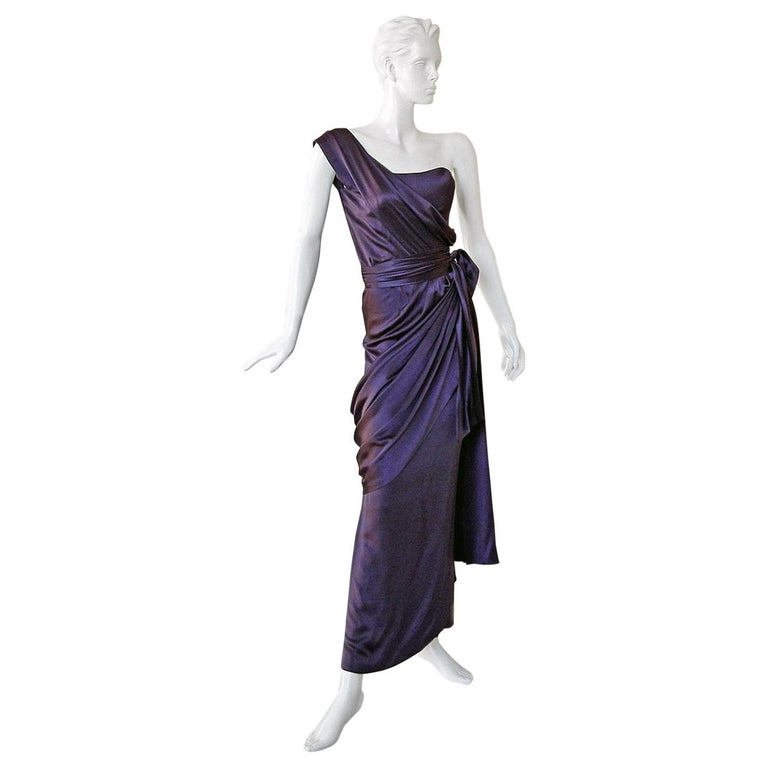 Yves Saint Laurent Haute Couture Grecian Drape Runway Gown  For Sale