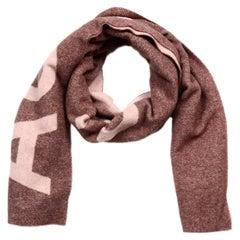 Acne Studio Oblong Pink/Mauve Wool Scarf