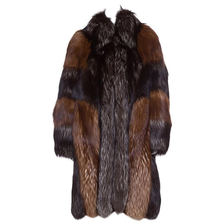 CHRISTIAN DIOR  Red Russian Fox Fur Coat For Sale