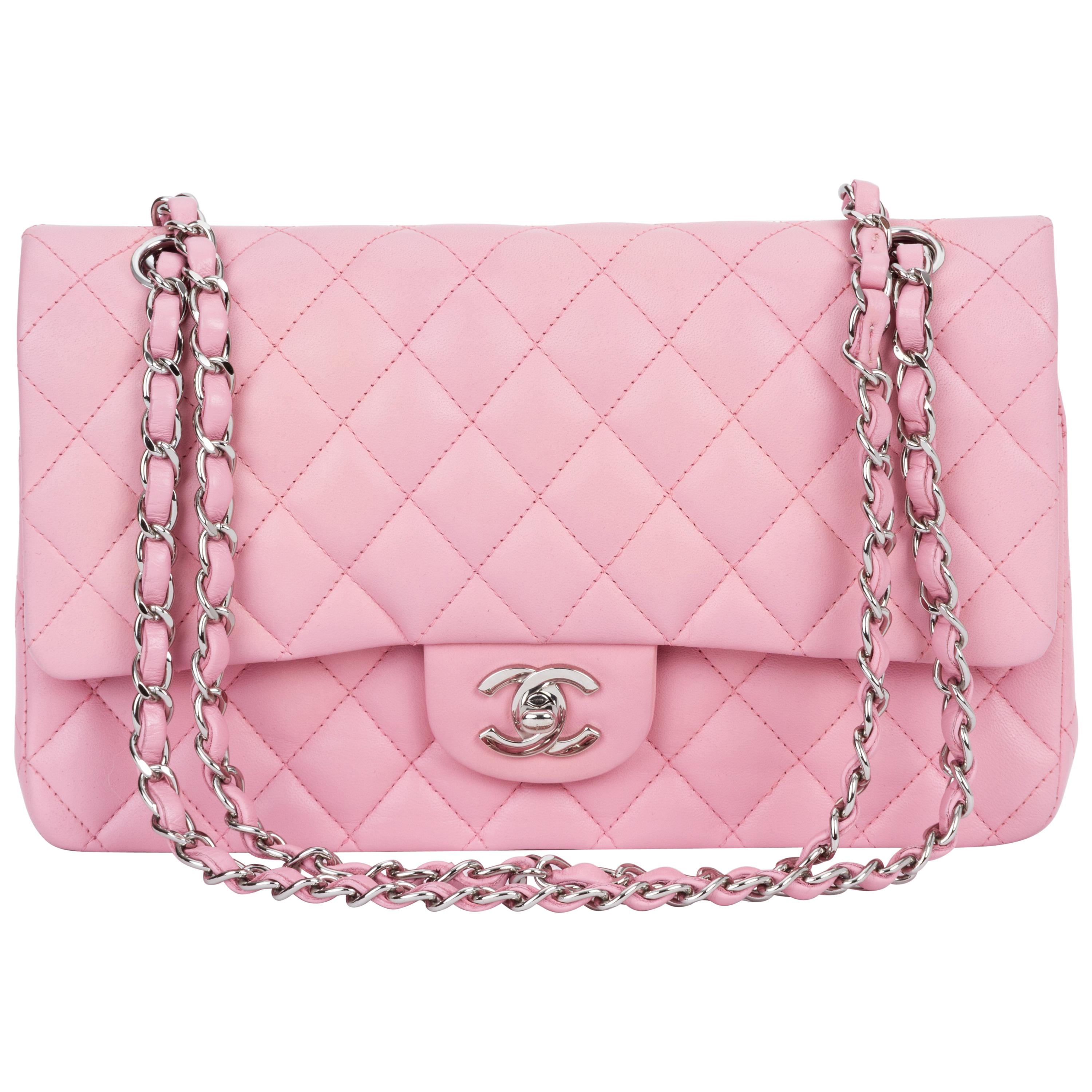 Chanel Bubblegum Pink 10 Double Flap Bag At 1stdibs