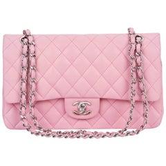 """Chanel Bubblegum Pink 10"""" Double Flap Bag"""