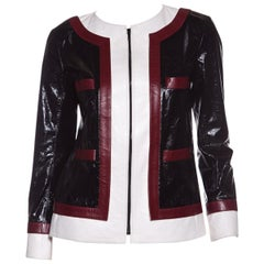CHANEL  Multi Color-Block Leather Jacket