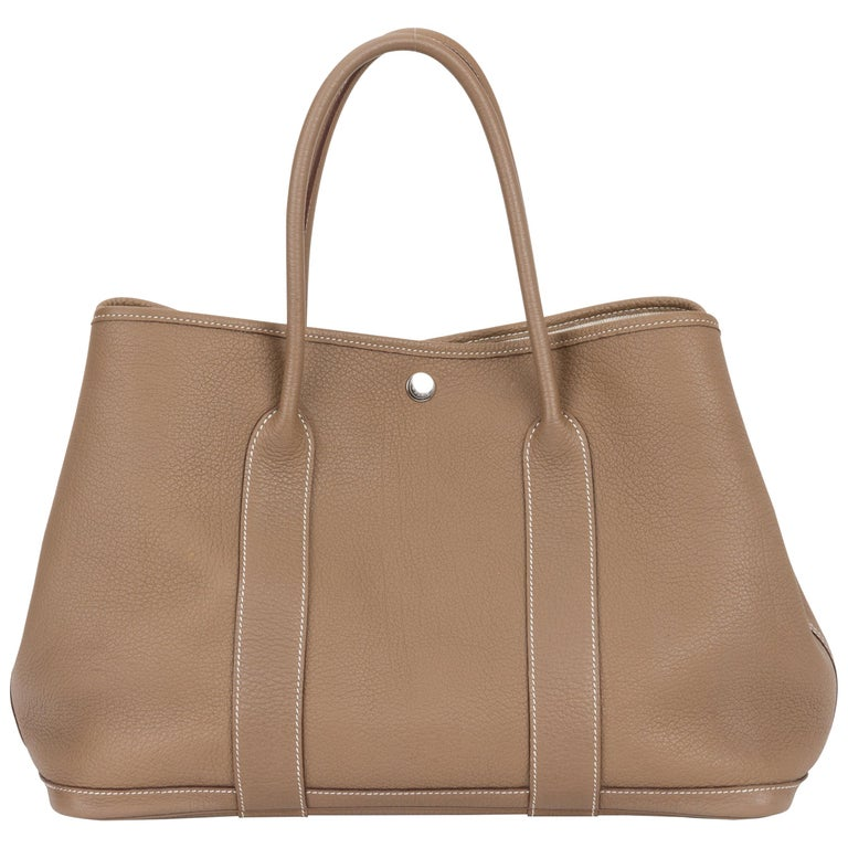 Hermes Etoupe Negonda Large Garden Party Bag For Sale