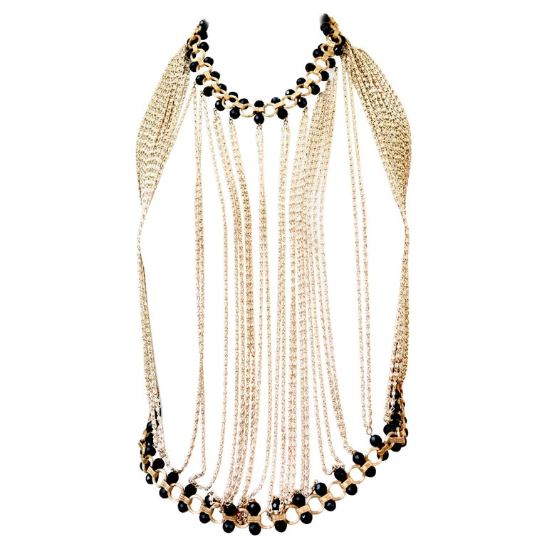 60s Body Chain Necklace / Halter  For Sale