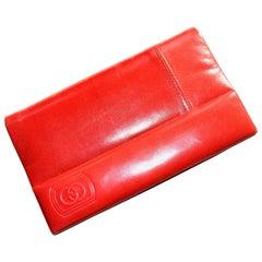 1970s Red Gucci Clutch