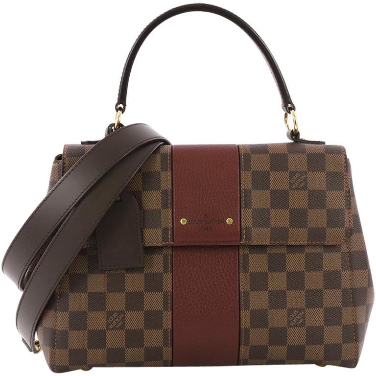1733dad49d68 Louis Vuitton Bond Street Handbag Damier Canvas with Leather For Sale
