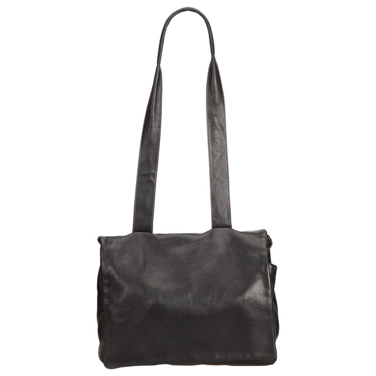 ee0cddc52e36 Prada Black Leather Shoulder Bag For Sale at 1stdibs