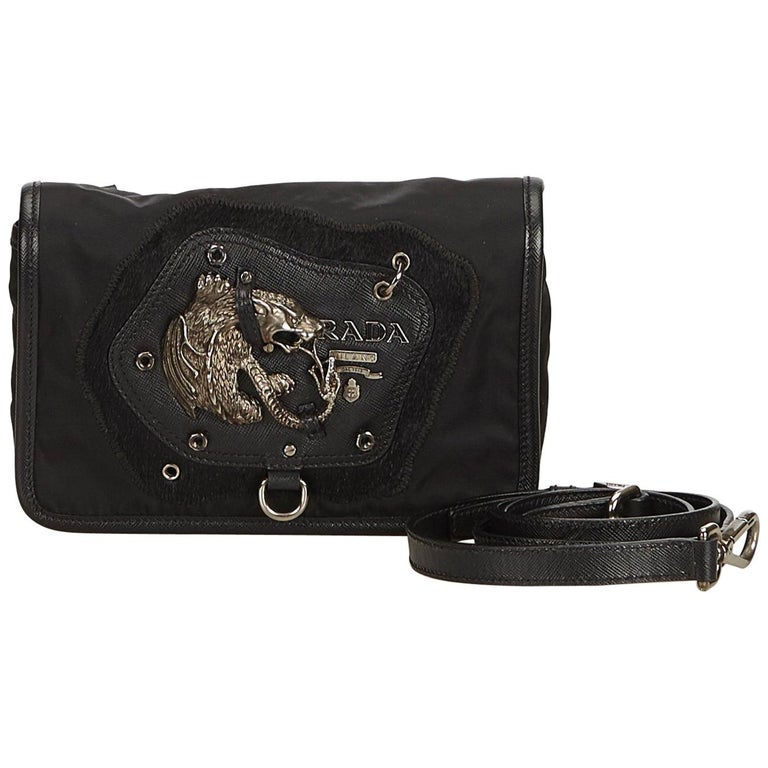 8d16fae1b6dd Prada Black Nylon Crossbody Bag For Sale at 1stdibs