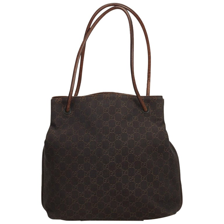 cb110ab4607 Gucci Brown GG Canvas Tote For Sale at 1stdibs