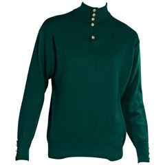 Green Vintage Chanel Cashmere Sweater