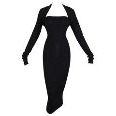 "S/S 2003 Dolce & Gabbana Limited ""Vintage"" Edition Black Strapless Dress & Shrug"