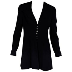 Navy Blue Vintage Chanel Wool Jacket