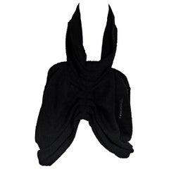 Black Chanel Cropped Halter Top