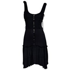 Black Antonio Berardi Sleeveless Pleated Dress