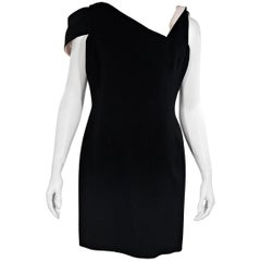 Black Antonio Berardi Asymmetrical Sheath Dress