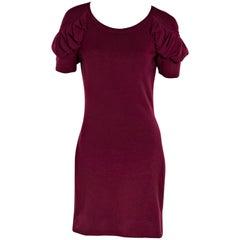 Plum Fendi Knit Sweater Dress