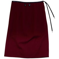 Red Jean Paul Gaultier Wool Skirt