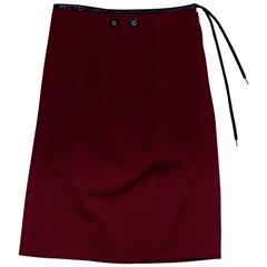 Red Jean Paul Gaultier Wool Skirt