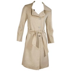 Khaki Max Mara Cashmere Belted Coat