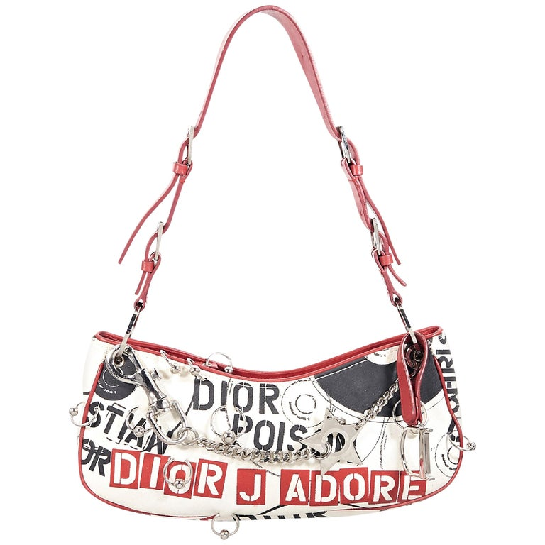 Multicolor Christian Dior Printed Shoulder Bag
