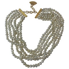Karl Lagerfeld 6 Row Pearl Necklace