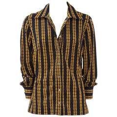 Celine Printed Cotton Day Shirt Blouse