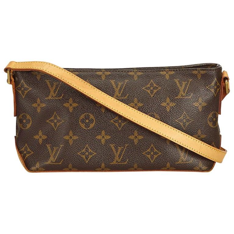 Louis Vuitton Brown Monogram Trotteur For Sale
