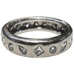 Vintage Signed Chanel 18kt White Gold, 2cts Diamonds Ring