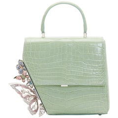 Ming Ray Crocodile Light Green shoulder bag