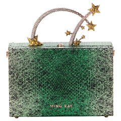 Ming Ray Dione Green Lizard Clutch
