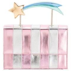 Ming Ray Estella Pink Silver Clutch / Shoulder Bag