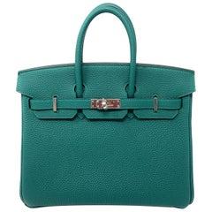 Hermes Birkin 25cm Malachite Green