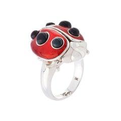 Simon Harrison Ladybird Sterling Silver Ring