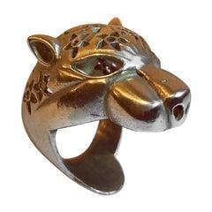 Brass Leopard Ring
