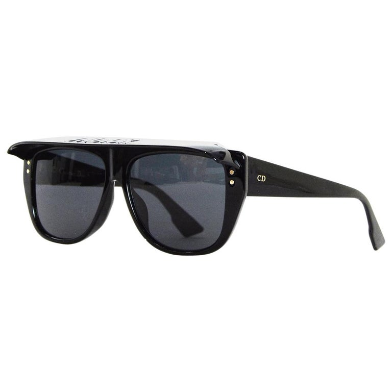 5f0ddf5afd Dior Black DIORCLUB2 J ADIOR Visor Sunglasses W  Case For Sale at 1stdibs