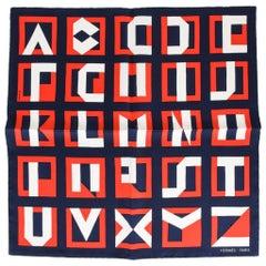 Hermes Schal Lettres Au Carre 45 Deco Alphabet