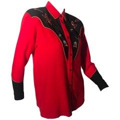 1980s Kansai Yamamoto Retro-Styled Embroidered Western Shirt