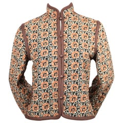 1976 YVES SAINT LAURENT quilted floral peasant jacket