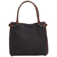 Gucci Brown GG Canvas Tote Bag