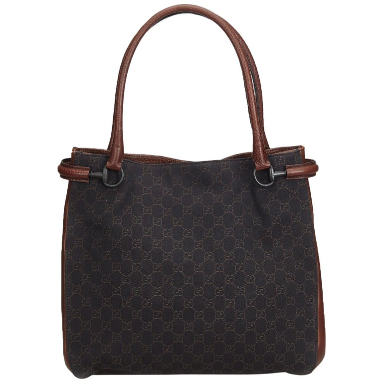 a85f3f95175 Gucci Brown GG Canvas Tote Bag For Sale at 1stdibs
