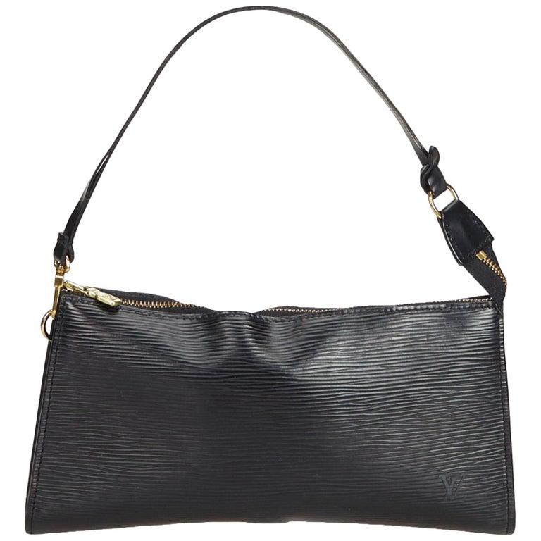 86142c488053e Louis Vuitton Black Epi Pochette Accessoires For Sale at 1stdibs