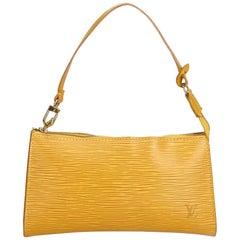 Louis Vuitton Yellow Epi Pochette Accessoires