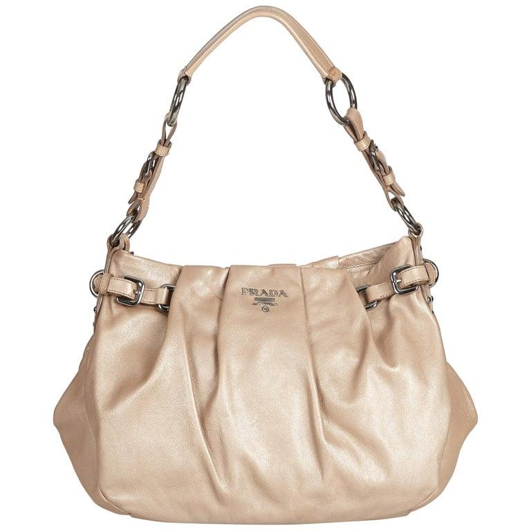 a1b02e66f7cc Prada Brown Leather Tote Bag at 1stdibs