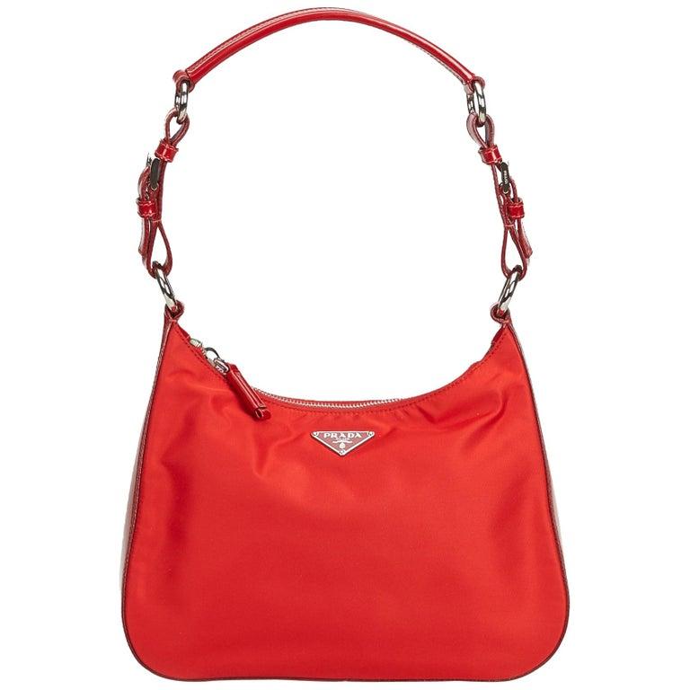 9147a8f130a7 Prada Red Nylon Shoulder Bag at 1stdibs