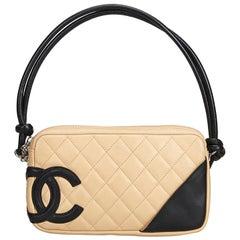 Chanel White Cambon Ligne Pochette